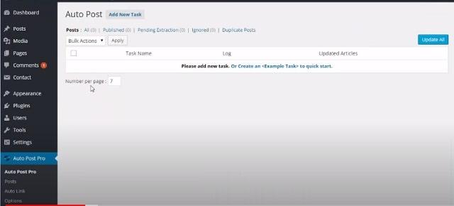 Nhấn chọn Add New Task để tạo 1 tab mới
