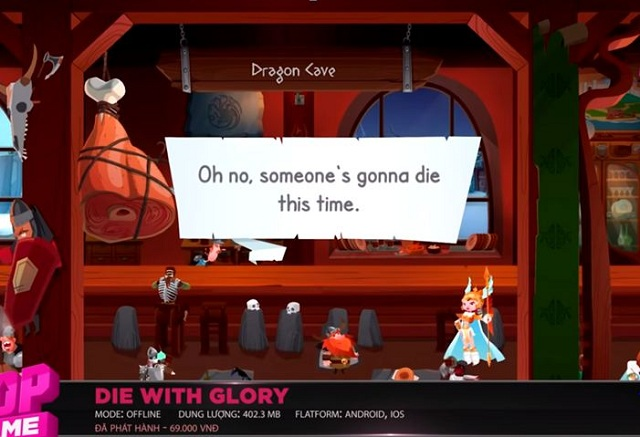 Die With Glory – Là tựa game offline đi cảnh