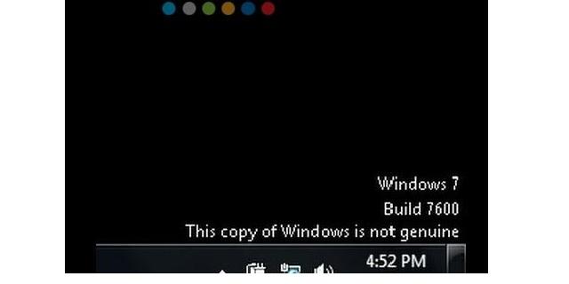 Góc phải màn hình máy tính win 7 chưa bẻ khóa
