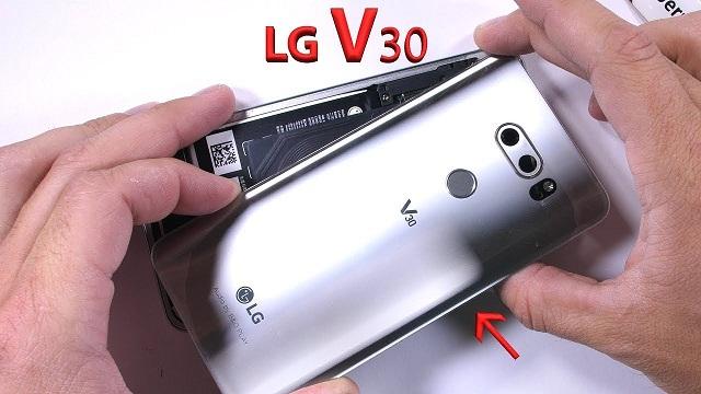 Kiểm tra thông tin LG V30 để lấy mã máy test áp suất