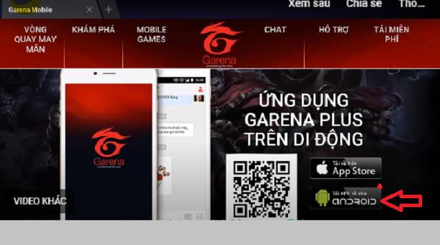 Nhấn tải APK về cho máy Android