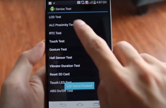 Test thử máy với mã lệnh để xác định tính chất lượng
