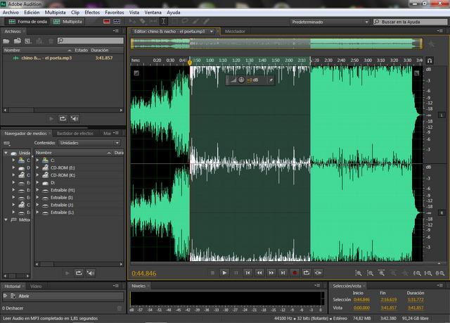 Mở Adobe Audition để kiểm tra cài đặt thành công hay chưa?