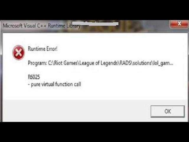 Nhận biết Adobe Audition gặp phải loi runtime library c++