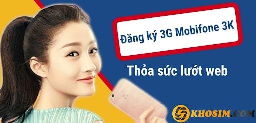 Gói 3G Mobifone 3K mang đến nhiều tiện ích với chi phí thấp